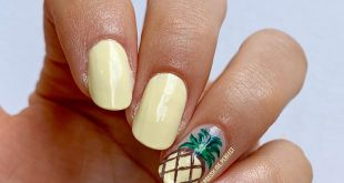 simple pineapple nails inspired by a pic i saw on Pinterest. Tutorial will be po