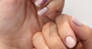 Change up your basic nude nails with neon colors  . . . . . . . . . . .