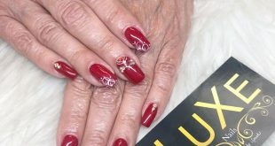 Deep cherry red with designs