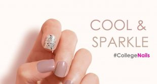 Get trendy look in college with sparkling cool nails  . . . . Book an appointmen