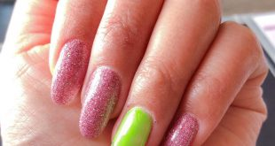 Love it! Dipping with gel tip extensions! The neon makes the skin pop out and th