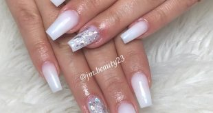 Milky white  • • •  Soft touch & gel top coat