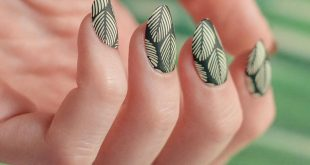 More tropical nails!These are really simple, Black Knight over Scandi Sun and th
