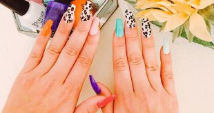 My nails are summer ready!  . I decided to combine the top 3 nail trends into on