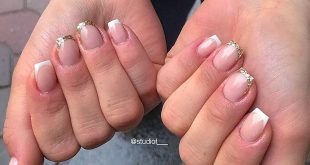 Rainy day but pretty beauty nails of a classic french...with a twist  __________
