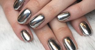 Robot nails for Lauren  ~*•fUtuRe! FuTurE!•*~  chrome full-set - - - - - - - -