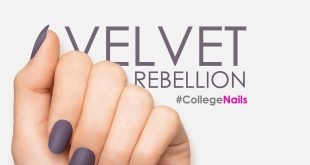 Start a fashion rebellion with this sultry, matte look.This purple-grey nail has