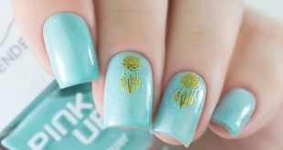 """Wonderful mint Pink Up from the collection """"Love me tender"""" 08 by In 2 layers + top-drying."""