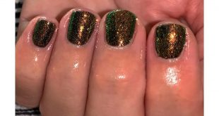 Black and glittery  Festival nails   Blackpool with  iridescent glitter • • • •