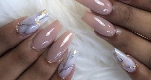 Earth, Marble, and Touch of Gold  . . . .         ChicsHairandNails  559-374-555