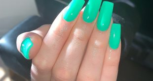 Full Sculpted Set with Kool Mint!                  nails