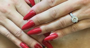 Long reds this time. Nice weekend. Polyethylene nails by Najet
