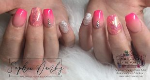 Pink ombré, angel paper and sparkles  using  cover pink, Glam and Glits Pinkahol