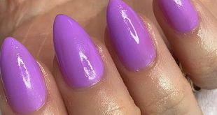 Purple almond nails   Gelx extensions in short stiletto  Only £30 for a full set