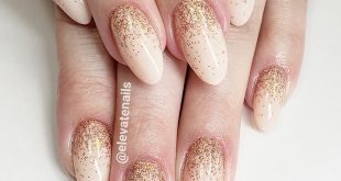 Rose gold glitter ombre