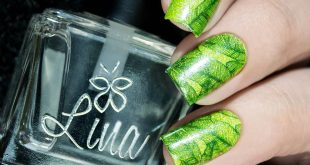 Something green and bright until summer is gone  Make You Mark 08 stamping plate