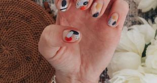 Super cute picture my client took of the abstract nails I did!  Come see me at