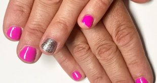Wedding ready fingers and toes to match the client's outfit. I LOVE this pink .