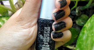 When In Doubt Wear Black. . This nailpaint is a polka dotted one making it a per