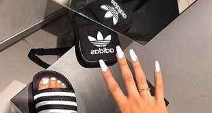 White N Black looks  Do you like this white ballerina nails?   from  _