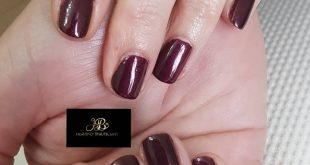 shellac nails in  Beautiful colour.
