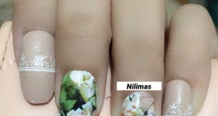A simple floral mani , wedding nails inspired  Flowers are my ultimate love I lo