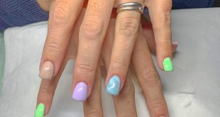 Acrylics infills with lovely bright pastel colours and a touch of marble