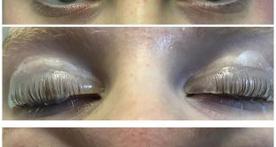 Before, During and After of today's lash lift for   Due to Millie not being able