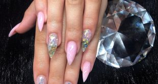 Clear Tips with Glitter and Marble - 20% discount on everything until 10.06.19 -