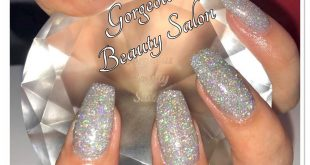 Client is wearing our new Silver Holographic Glitter