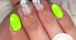 Festival nails     Neon 10 with a white base   Bell with  Silver holo multi mix