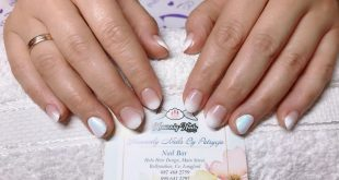 Gel builder overlay on natural nails for extra strength with baby boomer (the wh
