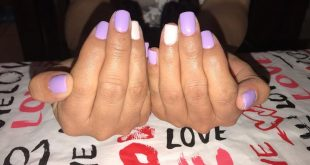 Gel polish, some purple action - Getting ready for my first Mary Kay Party tomor