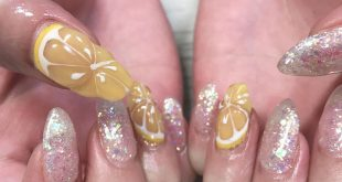 I want to wear it in 3D Juicy lemon nail