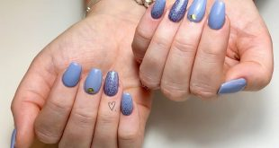 Lilac and Blue hues using  Denim Jean and Lila glitter