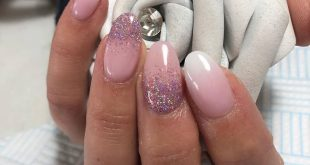 Wedding nails with abit of sparkle