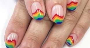 You can NEVER go wrong with    Summer  by  who created these rainbow tips on her