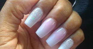 First time getting ombre coffin shaped nails  I fell into the pressure of keepin