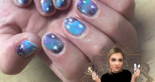 Galaxy nails  for my gorg  love when nelly comes to your nail appointments  usin