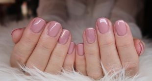 Gel polish with loose shimmer