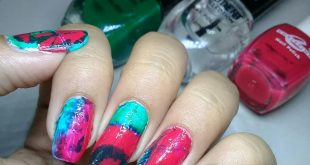 Hey Everyone ! How are you ?? Here is my Water marble nailart  Hope y'all like t
