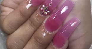 Jelly Pink with Blingy Bling . . . .         ChicsHairandNails  559-374-5550 Cal