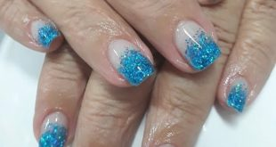 Maintenance of the gel bath. Blue encapsulated glitter. . . . . .