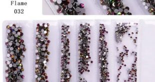 Nail rhinestones Shade: flame Quantity :1440pc Size: (SS3-SS10) IN STOCK For ord