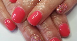 No 173 Ipanema Sunset for the lovely Janet! Using magpie glitter on both index &