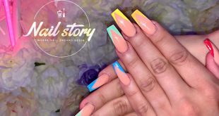 Rainbow thingz  __________ Nude colored powder set with rainbow V-tips  ________