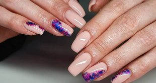 """Rubber base in shade """"Pink powder"""" with pink and blue foils  so simple, but so e"""