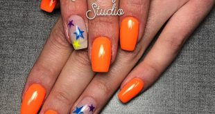 The future is bright for this young lady!  We used all LE neon gel paints here,