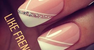 nail is always look classy this is different French style with glitter touch..
