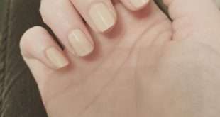 Decided to cut my nails down and paint them a neutral color